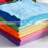 hot sales cotton velour bamboo fibre embroidery design fancy hand towels