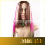 Halloween Perruque Anime Cosplay Wigs Brown Blonde Fuschia Ombre Harajuku Cosplay Wig