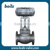 High temperature /high pressure steam Pneumatic control valve OEM pneumatic steam control valve