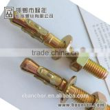 through bolt /wedge bolt /wedge anchor /with yellow zinc plated manufacturer in handan yongnian