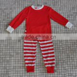 New design long sleeve red top stripes pants fall winter wholesale baby girls christmas boutique outfits