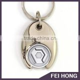 Wholesale promotional trolley locker coin for wishbone pound