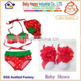 red beautiful baby barefoot sandal set