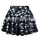 Women's Casual/Print/Cute/Party Mini Skirts , Spandex/Polyester Micro-elastic Multi-color