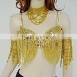 SWEGAL SGBDB13049 1color yellowand flower women 2013fashion lady women belly dance sexy bra