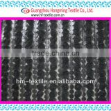 special Leather rose stripe ribbon embroidery mesh fabric for nigerial cord Satin Embroider fabric 2017