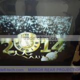 holographic transparent pvc matte projection screen fabric advertising screen