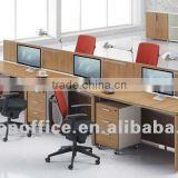 Single Side MFC modular office Workstation for 6 person