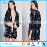 Adult new design glare sexy girls sequins night club wear kimono