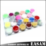 24 colors gel nails acrylic glitter powder,color acrylic nail powder