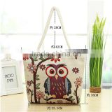 no minimum custom printed canvas tote owl bags