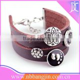 2013 New Leather Bracelet,Acessories for woman,Costume jewelry