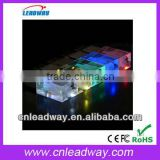 2013 beautiful eye-catching colorful led light acrylic usb can put things into acrylic body 1gb 2gb 4gb 8gb