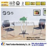 PT-M009 Modern meeting room furniture high gloss office glass desk with metal legs side table good quality