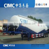 CIMC Factory price 50cbm tri-axles bulk cement tanker semi trailer / cement powder material truck semi trailer (volume optional)