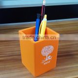 Eco-friendly promotional silicone/ plastic pen container/pencil holder in china for sale