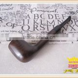 Tobacco smoking pipe burl wood bakelite