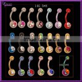 Anime Belly Button14 Gague Surgical Steel Banana Barbell Body Jewelry Magnetic Navel Rings
