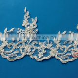 Wedding Decoration Materials Embroidery Beaded Bridal Lace Trim SBL62202CB