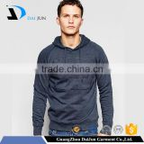 Promotion no zipper and no pocket 100% cotton with hood navy blue water mark logo high quality rib hem hoodie men