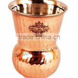 IndianArtVilla Handmade Steel Copper Water Glass 400 ML - Drink Water Restaurant Hotel Home Gift Item Tableware