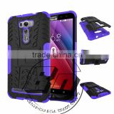 Fashionable Popular heavy duty armor kickstand TPU+PC 2 in 1 case For Asus Zenfone 2 Laser ZE601kL mobile phone case cover