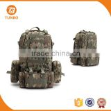 Wholesale custom swiss 600D oxford 60L army pattern tactical military camouflage backpack, army military bag