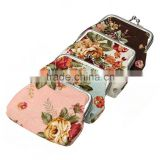 Fashion promotional custom printed floral vintage Japanese coin purse