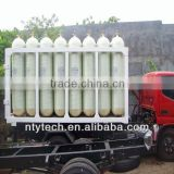 CNG steel liner cylinder cascade for gas refueling station,CNG station, power-plant factory,Industrial factory etc.