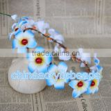 18CM blue bridal Floral Crown Flower Wedding Headband Rustic Woodland for head flower wreath