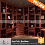 Cheap Price Wood Wall Units Solid Walnut Bookcase