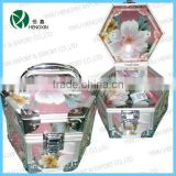 Hexagon acrylic cosmetic box,acrylic display bin