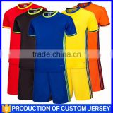 The new wholesale Custom Blank Dry Fit Material Shirt Team Soccer Uniforms kit