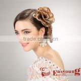 Blonde braids hair accessories for wedding, synthetic hairpieces for hair styleq