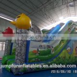 birds theme inflatable children slide for sale