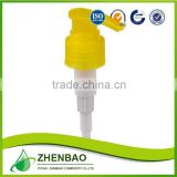Boolong brand clear plastic lotion pump for bottle from Zhenbao factory