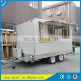 Factory Supply YS-FV350A Mobile Ice Cream Cart, Customized Logo Street Fast Food Cart/ Fast Food Trailer/ Fast Food Truck