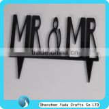 Acrylic Wedding Cake Topper MR & MRS Bride & Groom Party Favors Decoration