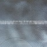 China fabric wholesal emboss blackout curtain fabric upholstery embossed