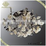 Beautiful ceramic flower low voltage ceiling lamp