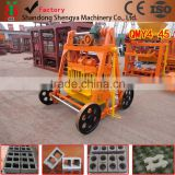 Shengya Brand electric movable concrete hollow brick making machine for building house price in Ghana