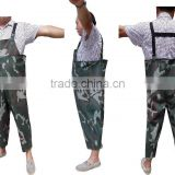 being used for car washing or fishery camo waterproof adult fishermen pvc bib pants