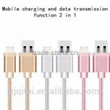 High&fast speed Nylon Braided Micro USB Cable Charge Data Cables retractable usb cable