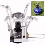 Mini Stove Portable Outdoor Picnic Gas Stove Foldable Camping Stove Steel Ultralight Backpacking Canister