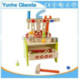 Creative DIY wooden tool table assembly toy disassembling screw toys