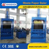 Super Performance hydraulic vertical small baler machine for waste paper ,plastic,film, factory direct sell