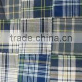 Madras Check Patchwork handmade pure fabrics For Cap