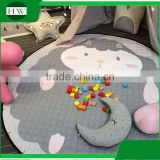 Promotional gift Portable Baby Kids children cotton Gym Play Mat Soft Cotton Toys Storage Bag