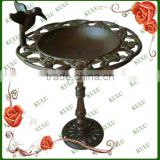 antique standing cast iron bird feeder for garden decoration