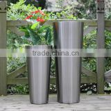 2015 new style stainless steel flower pot/garden pot/planter pot with different shape in outdoor for Christmas